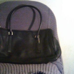 Black leather tote bag Coach